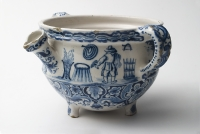 A Blue and White Creampot in Dutch Delftware