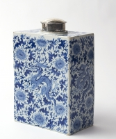 A large Flask in Blue Delftware