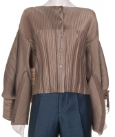 Issey Miyake Pleated Cape Blouse - Issey Miyake