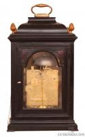 A Dutch bracket clock with moonphase and full calendar, L. Vrijthoff Haga, Circa 1740
