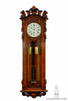 An impressive English oak longcase regulator, Armstrong Manchester circa 1880