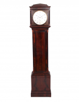 An unusually small Scottish mahogany longcase clock Mitchell Glasgow, circa 1825