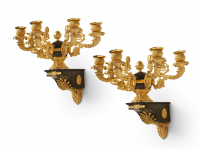 A pair of Charles X wall sconces