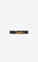 Saint Laurent Opyum Bracelet in Black Leather - Saint Laurent