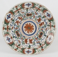 A Charger in Polychrome Delftware