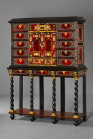 Lacquer inlaid and Tortoiseshell Cabinet-on-stand, Flemish, possibly Antwerp