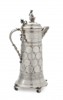 A large German silver 'thaler' presentation jug - Hessenberg & Co | Frankfurt