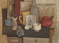 Still life of Dutch tile