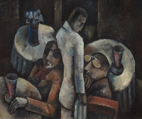 Figures on a terrace - Bob Hanf