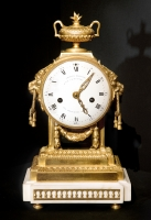 A French gilted bronze Louis Seize Mantel clock