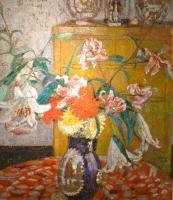 Interior with flower still-life