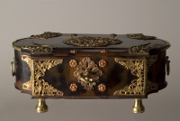 Tortoiseshell box with brass mounts