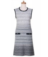 Chanel Sleeveless Knit Casual Dress 12P - Chanel