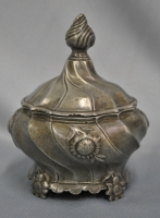 Dutch pewter tobacco box made by : B. Post 1777.