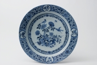 A Blue and White Charger in Dutch Delftware