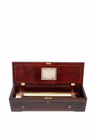 A fine Swiss rosewood Nicole Freres cylinder music box, circa 1855.
