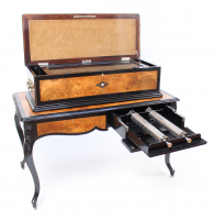 An impressive Swiss interchangeable cylinder music box on table Allard, circa 1890
