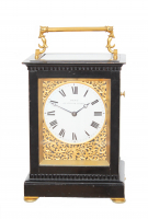 An English giant carriage clock by Edward John Dent, circa 1844.