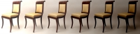 A Set of Six Empire Dining Chairs
