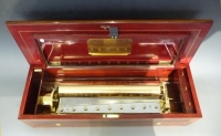 A superb antique Lecoultre music box,  8 melodies, Geneva, c. 1880.