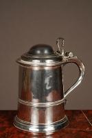 A good heavy English George II Tankard, mid 18th century.