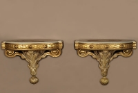 A Pair of Louis XVI-style carved wall brackets, 19th Century