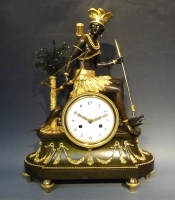 A very fine quality Directoire mantel clock 'l'Amérique' signed J.S. Deverberie, Paris circa 1790.