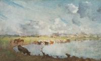 Weidelandschap met koeien - Jan Voerman sr