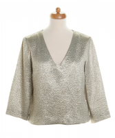 Dries van Noten Silver/Gold Silk Blend Top - Dries van Noten