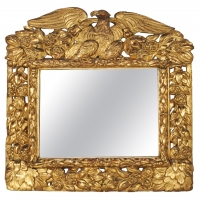 An English original gilded mirror, circa 1700