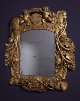 A Louis Quartorze mirror with coat of arms of VOC governor Cornelis Kien