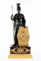 French Empire Pendule `Minerva`