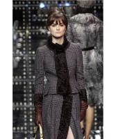 FW 2005 Dolce & Gabbana Runway Astrahkan Fur Trim Jacket - Dolce & Gabbana
