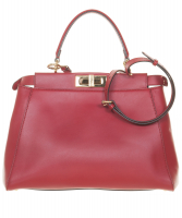 Fendi Red Leather Peekaboo Medium - Fendi