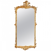 A Dutch giltwood mirror, mid-18th Century