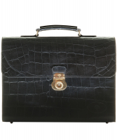 Mulberry Black Croc Print Briefcase - Mulberry