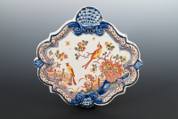 A decorative 18th century Delft plaquette