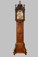 A Dutch burr walnut longcase clock