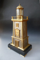 Guilmet lighthouse clock with helical spring torsion pendulum. Circa 1885.