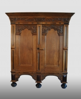 Dutch cupboard, oak, first half 18th century.