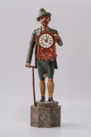 Uhrenmännchen so-called Schnappuhr, clock figure, Black forest circa 1840.