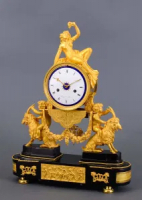 A French ormolu bronze Louis Seize mantel clock