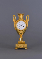 A fire-gilt bronze French mantel clock Gerard à Paris