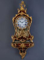A French Louis XV console clock signed Ald. Jph. Brodon à Paris