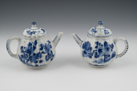 A set Chinese teapots