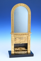A rare French ormolu mirror