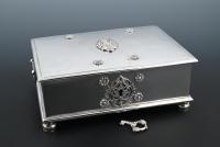 A Dutch colonial silver sirih box