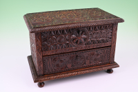 A Dutch carved document box