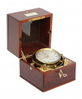 A rare Dutch mahogany chronometer by A. Hohwü, circa 1865