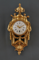 A French Louis XVI cartel d'alcove clock Atoine Coliau à Paris
